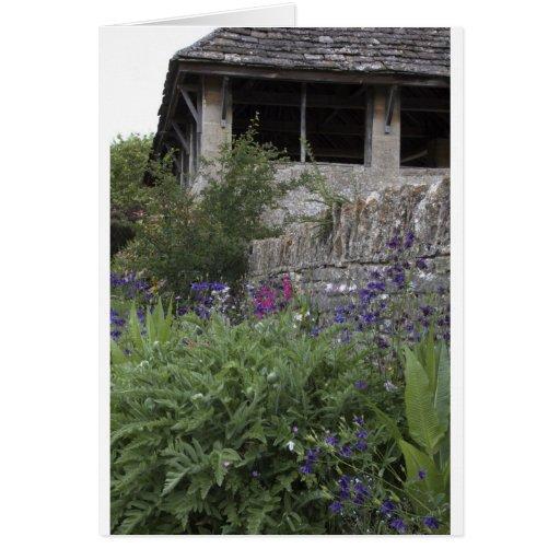 Jardin anglais - église cartes de vœux