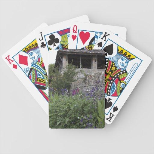 Jardin anglais - église jeux de cartes