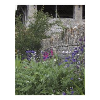 Jardin anglais - église en-tête de lettre customisable