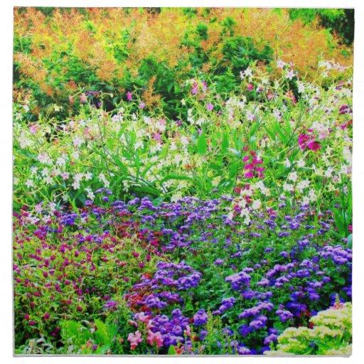 Jardin anglais floral serviettes en tissus