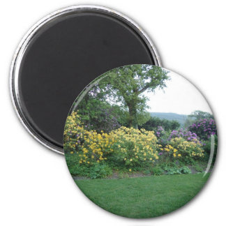Jardin anglais magnet rond 8 cm