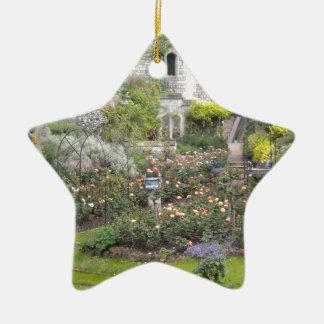Jardin anglais ornement étoile en céramique