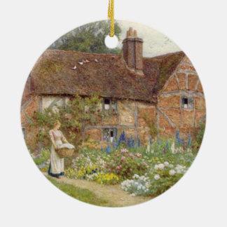 Jardin anglais ornement rond en céramique
