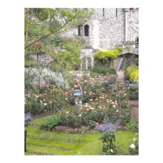 Jardin anglais en-tête de lettre customisée