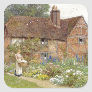 Jardin anglais sticker carré