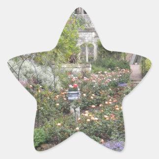 Jardin anglais sticker étoile