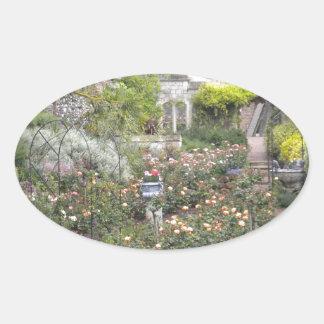 Jardin anglais sticker ovale