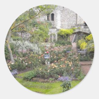 Jardin anglais sticker rond