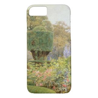 Jardin anglais vintage, roses et roses par Elgood Coque iPhone 7