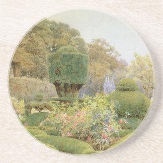 Jardin anglais vintage, roses et roses par Elgood Dessous De Verres