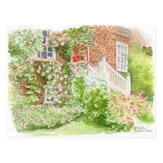 Jardin avant anglais de carte postale de