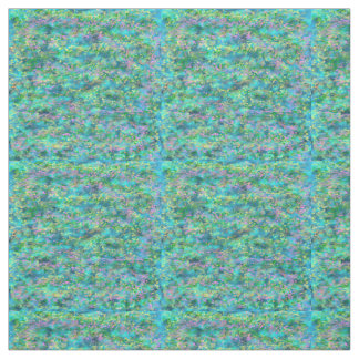 "Jardin bleu 4"" tissu piquant de carrés de coton"