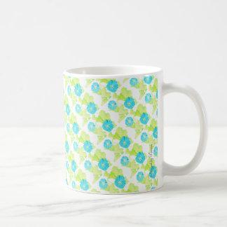 Jardin bleu de gloire de matin mug