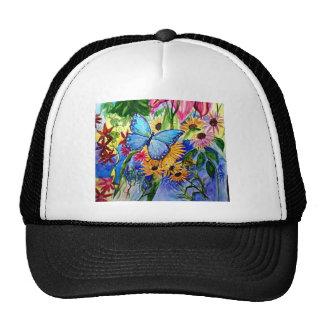Jardin bleu de papillon casquette de camionneur