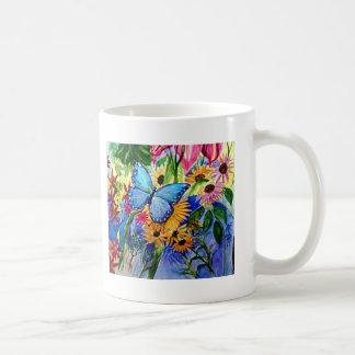 Jardin bleu de papillon tasse