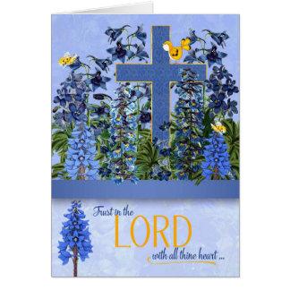 Jardin bleu de pied-d'alouette de proverbes carte