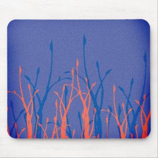 Jardin bleu tapis de souris