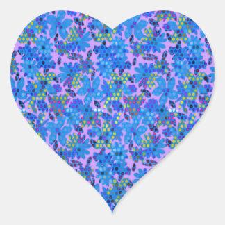 Jardin d'agrément bleu sticker cœur