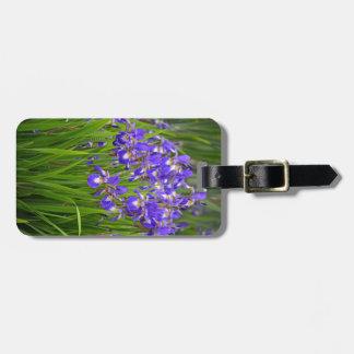 Jardin d'agrément pourpre d'iris étiquettes à bagage