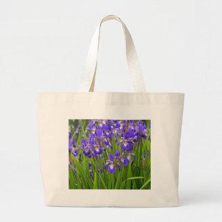 Jardin d'agrément pourpre d'iris sacs en toile