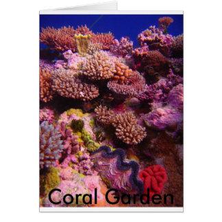 Jardin de corail carte de vœux