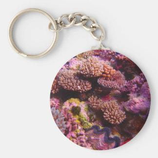 Jardin de corail Keychain rond Porte-clefs