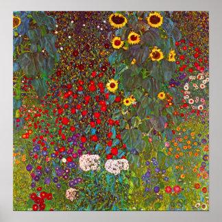 Jardin de ferme de Gustav Klimt avec l'affiche de