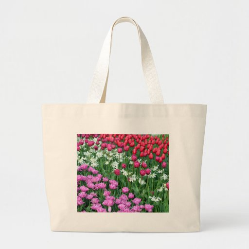 Jardin de jonquilles et de tulipes de ressort sacs