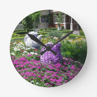 Jardin de l anglais de temps de thé horloges murales