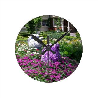 Jardin de l'anglais de temps de thé horloges murales