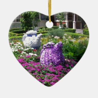 Jardin de l'anglais de temps de thé ornement de noël