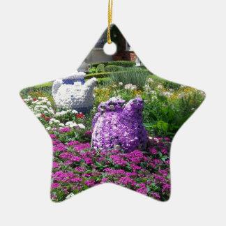 Jardin de l'anglais de temps de thé décorations de noël