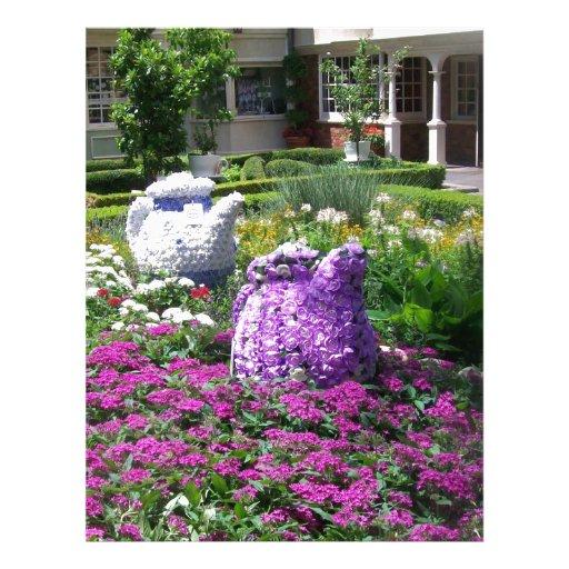 Jardin de l'anglais de temps de thé en-tête de lettre personnalisée