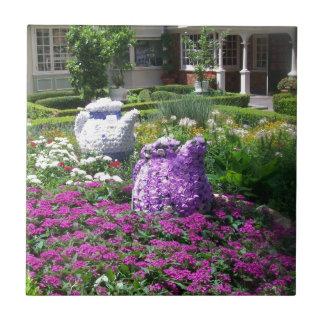 Jardin de l'anglais de temps de thé petit carreau carré