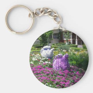 Jardin de l'anglais de temps de thé porte-clés