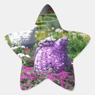 Jardin de l'anglais de temps de thé sticker étoile