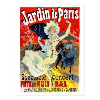 Jardin de Paris France Vintage Poster Restored Postcard