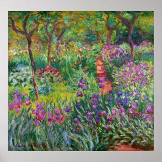 Jardin d'iris de Monet à l'affiche de Giverny