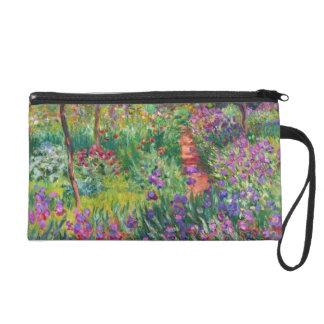 Jardin d'iris de Monet au bracelet de Giverny Pochettes Avec Dragonne