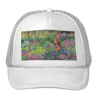 Jardin d'iris de Monet au chapeau de Giverny Casquette De Camionneur