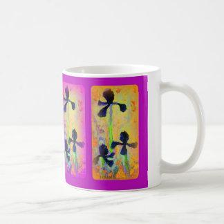 Jardin d'iris japonais dans le pourpre par Sharles Tasse À Café