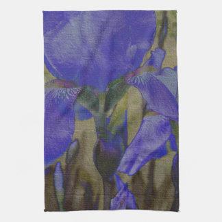 Jardin d'iris serviette pour les mains