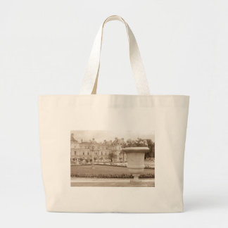 Jardin du Luxembourg, vintage Paris Large Tote Bag