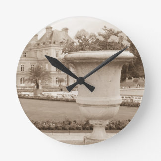 Jardin du Luxembourg, vintage Paris Wall Clocks