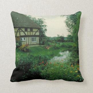 Jardin et cottage anglais coussin décoratif