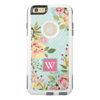 Jardin floral, arrière - plan bleu coque OtterBox iPhone 6 et 6s plus