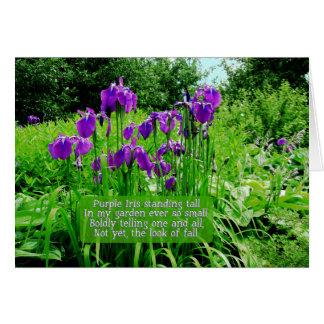 Jardin heureux d'Anniversaire-Iris Cartes