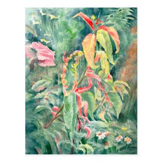 Jardin magique de carte postale de beaux-arts, cou