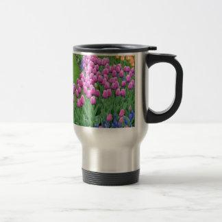 Jardin rose de tulipes de ressort mugs