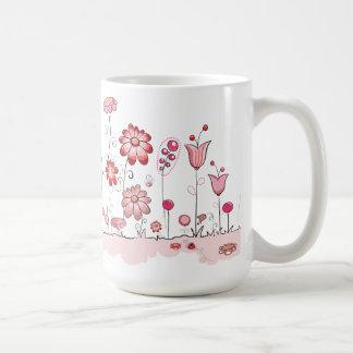 Jardin rose mugs